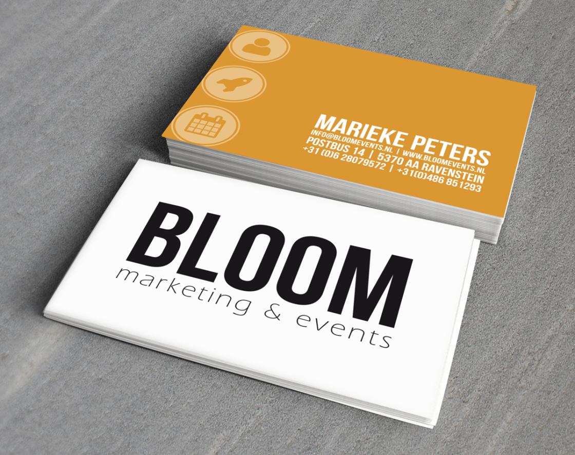 Bloom Marketing & Events - Visitekaartjes