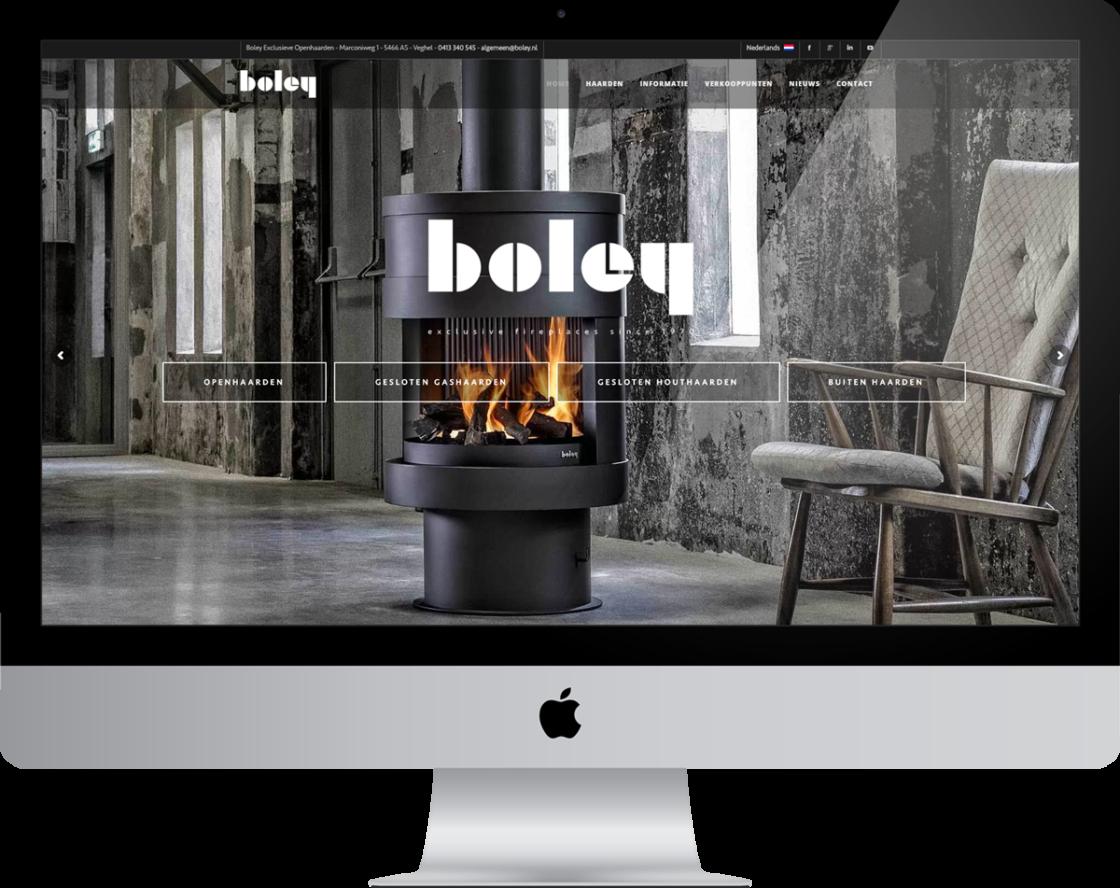 Lagardesign 2d boley openhaarden ontwerp & realisatie website